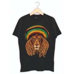 Arslan Bob Marley Baskılı Tişört