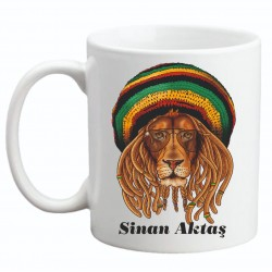 Bob Marley Baskılı Kupa
