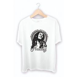 Bob Marley Baskılı Tişört