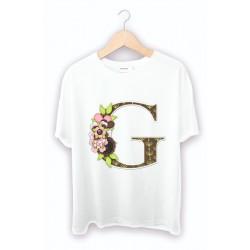 G harf baskılı tişört