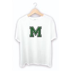 M - Harfli Beyaz Tişört