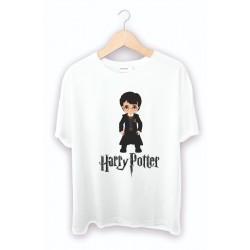 Resimli Harry Potter Baskılı Tişört