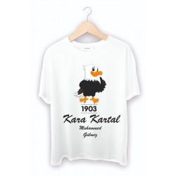 Kara Kartal Baskılı Tişört