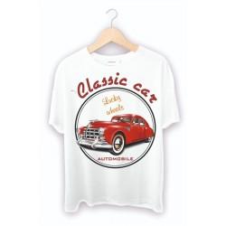 Klasik Araba Baskılı Tişörtler