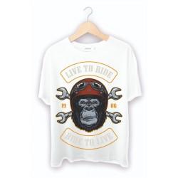 Maymun Baskılı Custom Tişört