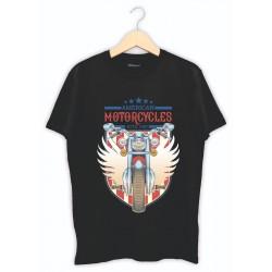 Kişiye özel baskılı tişört - Siyah Motorcu baskı