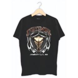 Baskılı Tişört - Kurukafa kartal baskılı tişört tasarımı