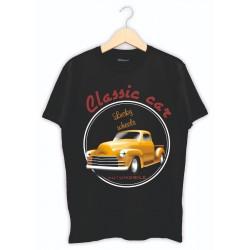 Vintage Klasik Araba Baskılı Tişört