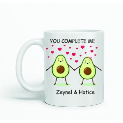 Sevgiliye özel kupa bardak çeşitleri - Avokado tasarımlı kupa