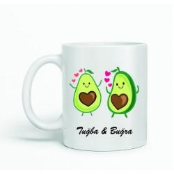 Sevgiliye Avokado Tasarımlı Kupa
