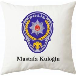 Polislere özel mesleki baskılı hediye yastık