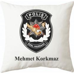 Polis Özel Hareket personeline hediye yastık