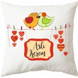 Sevgililere özel İsimli ve Resimli yastık modelleri