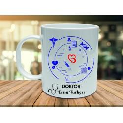 Doktorlara Özel İsimli Hediye kupa bardaklar