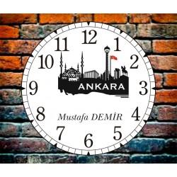 Ankara Dekoratif Kişiye Özel Duvar Saati