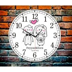 Kişiye Özel Baskılı Evleniyoruz Duvar Saati